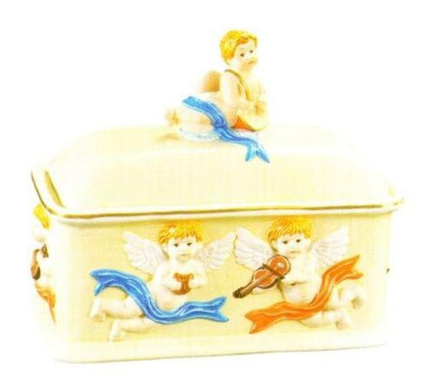 Kole OL708 Decorative Ceramic Angel Bread Box, Regular