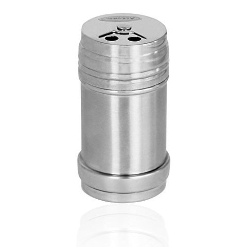 Acevan Stainless Steel Dredge Salt / Sugar / Spice / Pepper Shaker Seasoning Cans with Rotating Cover (1PCS)