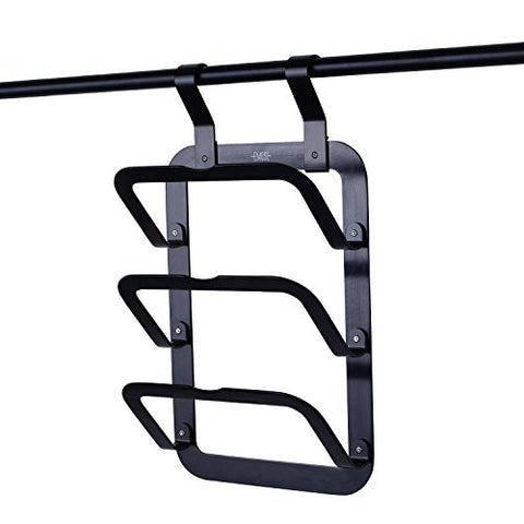 Space aluminum wall mounted utensil rack/kitchen wall rack,kitchen Organizer (Lid Rack, Black)