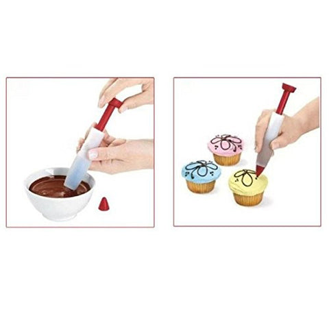 HP95(TM) Home Silicone Food Writing Chocolate Decorating Pen Cake Mold Ice Cream