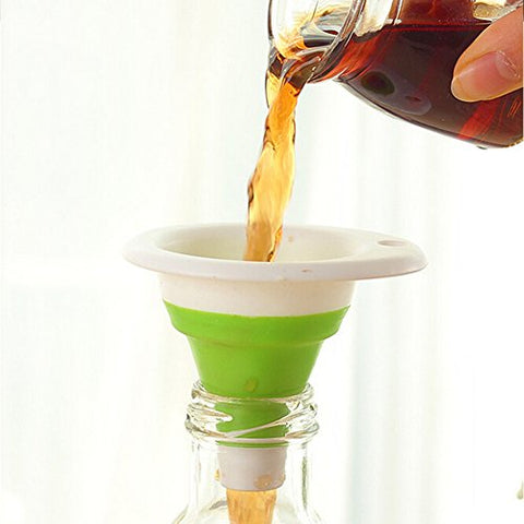 Kitchen Utensils Mini Silicone Gel Practical Foldable Funnel Cute Collapsible Kitchen Tool