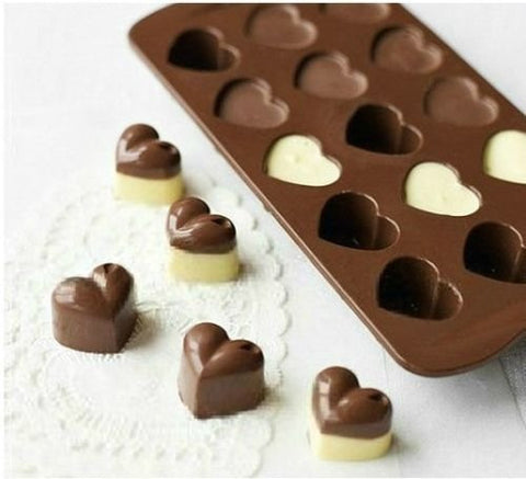 1Pcs Silicone Heart Chocolate Molds Jelly Ice Molds Cake Mould Bakeware