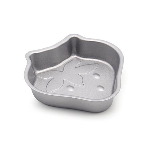 MZCH Strawberry Cake Pudding Jelly Mold Kitchen Pies Cheesecakes Bread for Kids,Silver