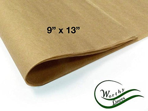 "Worthy Liners Natural Parchment Paper - 9"" X 13"" 100 Sheets"