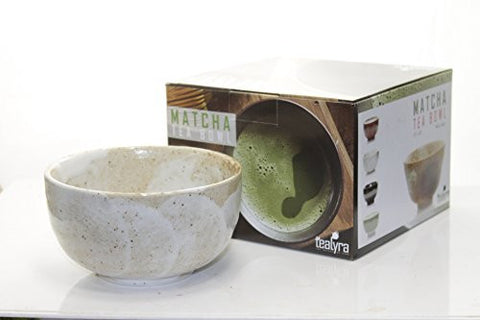 Tealyra Authentic Matcha Chawan Bowl - Biege