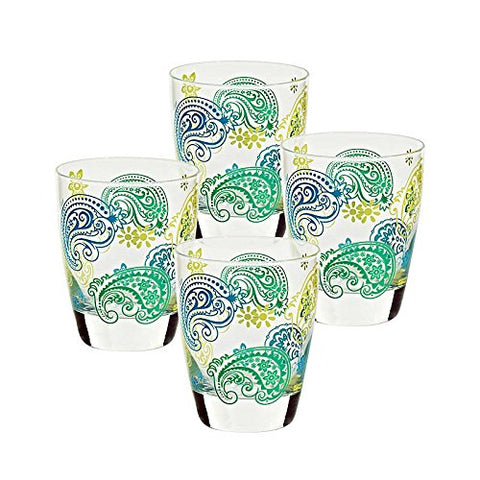 "Set of 4 pieces, water glasses ""NADIA"" 300 ml, modern style, glass (ARTGLASS powered by CRISTALICA)"