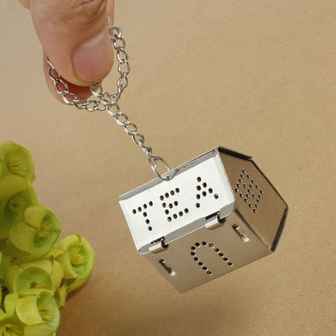 Stainless Steel House Shaped Tea Leaf Bag Spice Strainers Filter