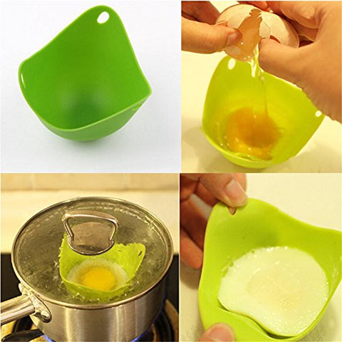 MISS MINI Creative Concave Bowel Shape Steamed Egg Cooker Silicone Kitchen Cooking Mold Random Color