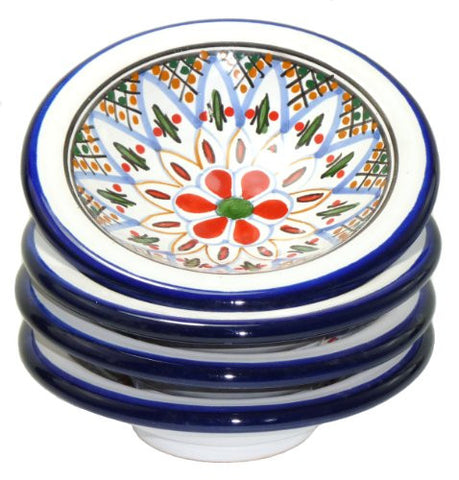 le souk ceramique round sauce dishes set of 4 tabarka design