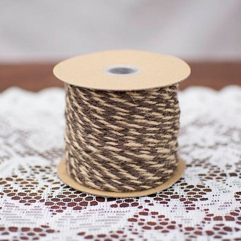 Bakers Twine, Twisted Jute Yarn, 50 Yards, Natural & Brown