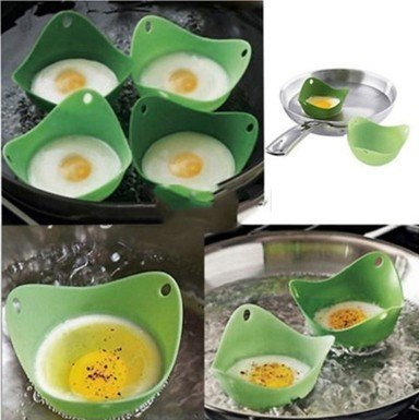 2pcs/lot, Kitchen Silicone Fried Fry Fried Oven Pancake Egg Poach Mould Poacher Cup
