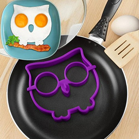 ZOMUSA Silicone Owl Shaped Fried Eggs Fried Eggs Shaper Breakfast Kitchen Cooking Tool Perfect Panicakes