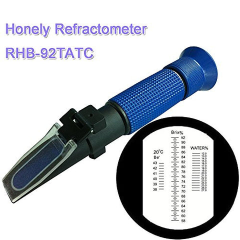 3 In 1 Scle Honey Plastic ABS Hand-held Refractometer P-RHB-92TATCblue