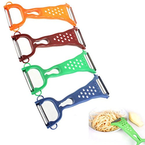 TMERY Vegetable Fruit Peeler Cutter Slicer Useful Kitchen Gadget - Random Color