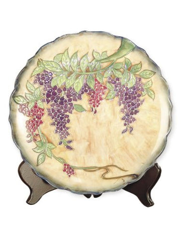 Dale Tiffany PA500209 Wisteria Decorative Charger Plate, 10-3/4-Inch by 10-3/4-Inch
