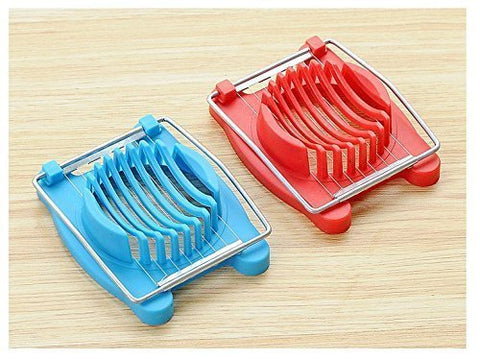 Pinovk 1 Pack Egg Slicer Stainless Steel Cutting Wires Mushroom Tomato Kitchen Chopper Multi Purpose Slicer