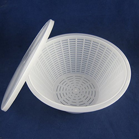 Feta, Ricotta and Mozzarella Brining Mold, Strainer and Lid, #696 (SKU 1028A)