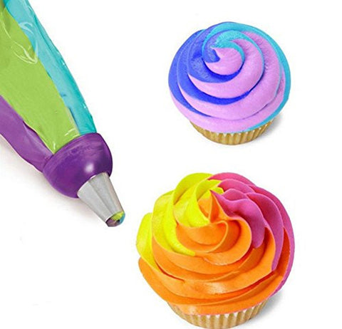 Special Life Creative 3 Color Icing Piping Cake Cream Baking Nozzle Converter Decorating Tool (2 Pieces)