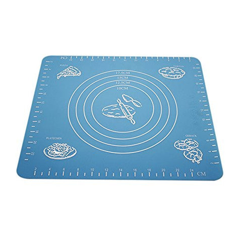 "Vivian Silicone Rolling Cut Mat Baking Pastry Sheet for DIY Pizza Pie Dough 10""x11.5"""