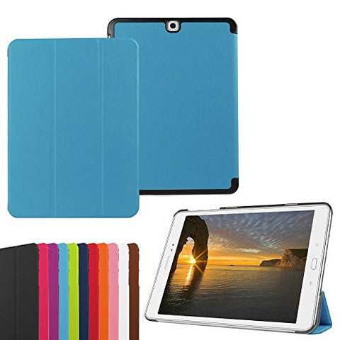 Samsung Galaxy Tab A 9.7 Smart Shell Case -Vangoog Ultra Slim Lightweight Stand Cover with Auto Sleep/Wake Feature for 2015 Galaxy Tab A 9.7-Inch SM-T550 Tablet ONLY-Blue