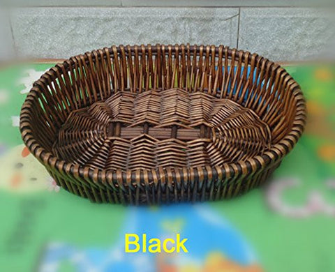 Eco-Friendly Willow Fruit Plate Bread Bins Boxes, Food Storage, Load 5Kg, Natural Color (30206cm)