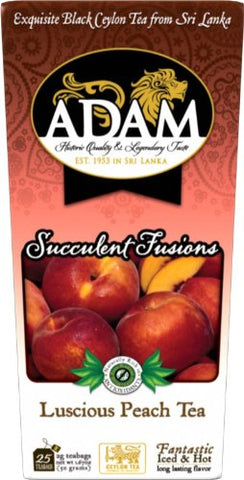 Adam Tea, Luscious Peach Tea, 25 Count (50g)