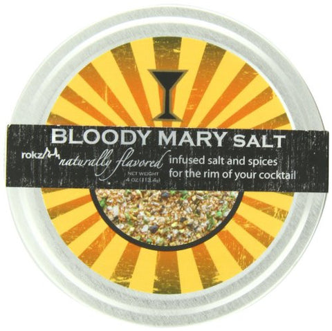 Rokz Design Group Infused Salt, Bloody Mary, 4 Ounce