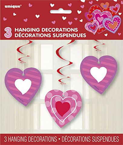 "26"" Hanging I Heart Valentine Decorations, 3ct"