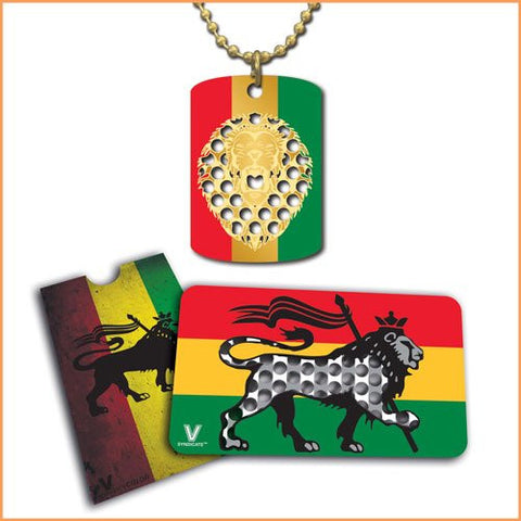 V. Syndicate Rasta Lion Grinder Card and Dogtag