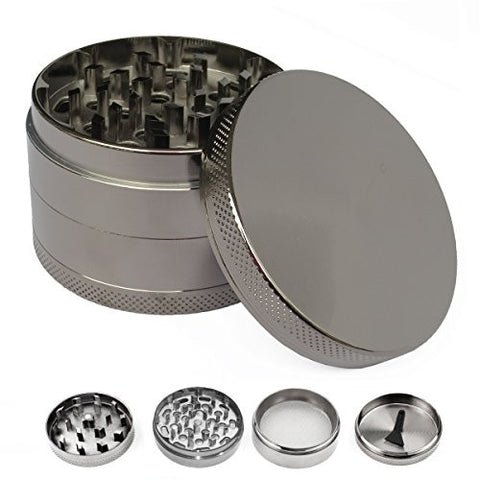 "SMING 2.5"" 4 Pieces Spice Manual Grinder- Nickel Black"
