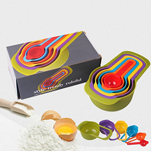 Colorful 6Pcs Kitchen Colourworks Measuring Spoons Measuring Cups Spoon Cup Baking Utensil Set Kit Measuring Tools