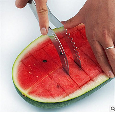 Premium Watermelon Knife and Melon Slicer Server with FREE Professional Stainless Steel Beverage Bottle Opener