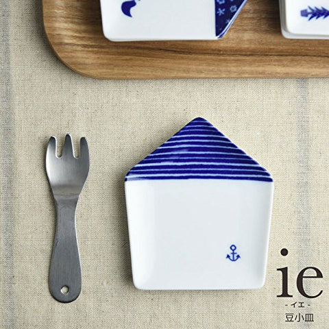 ie Small House shaped Plate Marine pattern for small food...etc from Japan