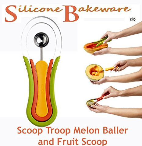 Scoop Troop Melon Baller and Fruit Scoop by Silicone Bakeware