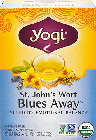 YOGI TEAS/GOLDEN TEMPLE TEA CO St. John's Wort Blues Away Tea 16 BAG