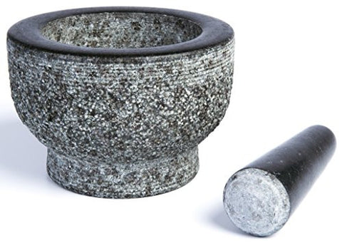 Granite Mortar and Pestle by HiCoup - Unpolished Mortar and Pestle