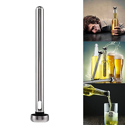 Awakingdemi Wine Chiller Stainless Steel Beer Chill Stick Wine Coolin Chiller Cooler Rod In Bottle P Stainless Steel Cooling Stick Chill Rod