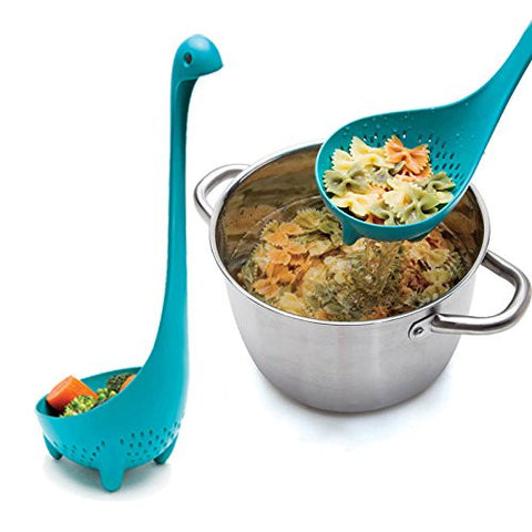 Nessie Long Handle Dinosaur Colander Monster Nonstick Nylon Strainer Spoon Large Scoop Kitchen Cooking Tools