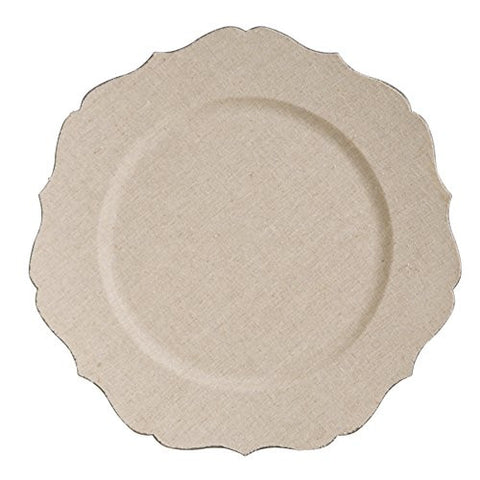 Mud Pie Scalloped Edge Charger, Beige