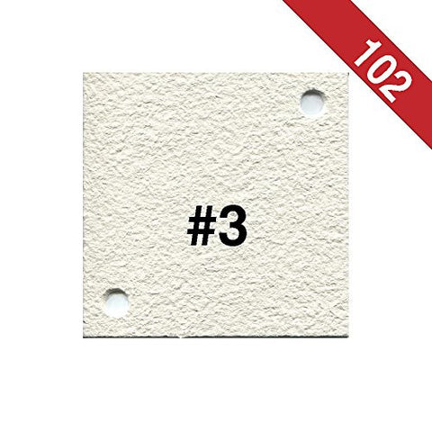 Buon Vino Super Jet Filter Pads, 0.5 Micron (#3) White (Pack of 102)