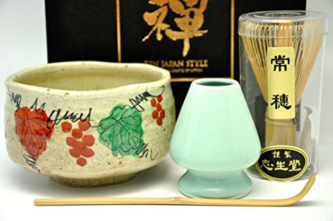 Japanese Mino Yaki ware Matcha Bowl And Tea Ceremony Set Green Tea 12.3 / 12.3 / 7.2cm (4.8 / 4.8 / 2.8inch)[7439]