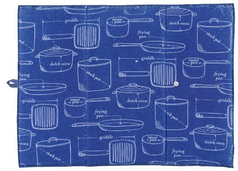 Now Designs Microfiber Drying Mat, Royal Blue