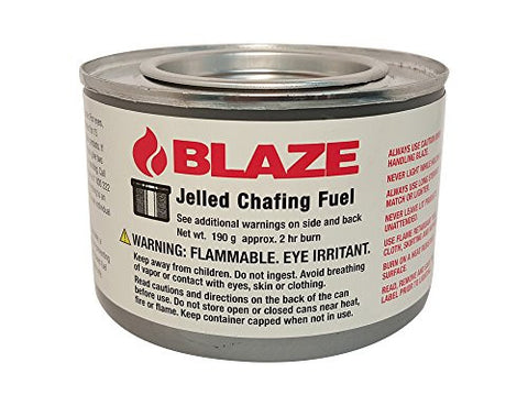 Blaze Products BB100L 2 Hour Jelled Ethanol Chafing Dish Fuel, 72 count