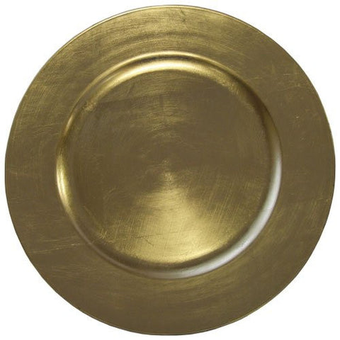 "American Merchandise Round Charger Plate, Gold 13"" Melamine #85650"