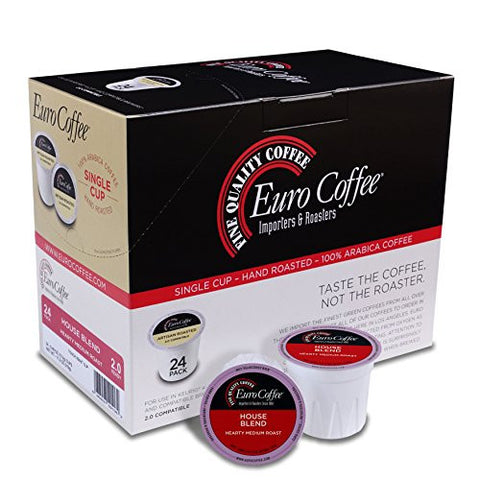 Euro Coffee House Blend Single-Serve K-Cup Keurig Compatible, 24 Count