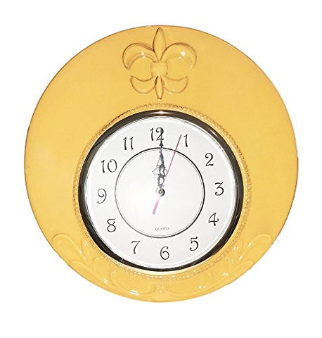 Tuscany Colorful Hand Painted Fleur De Lis Design **Get the Entire Collection** (WALL CLOCK)