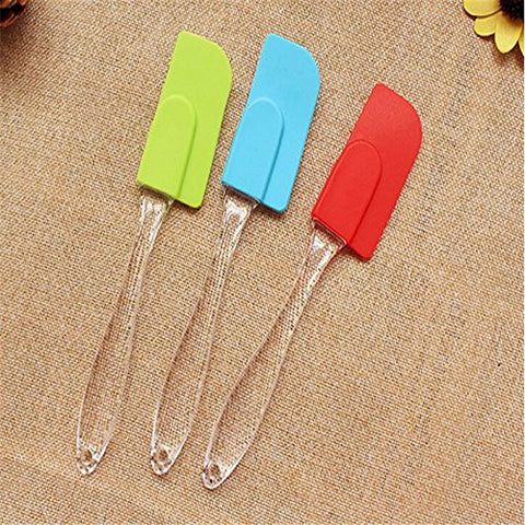 New Kitchen Silicone Cake Spatula Pastry DIY Smoother Craft Crystal Handle Icing Cream Butter Scraper Utensil Baking Tool