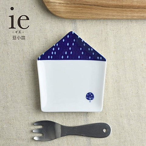 ie Small House shaped Plate Plant pattern for small food...etc from Japan