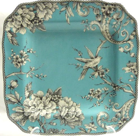 222 Fifth Adelaide Turquoise Dinner Plate, Set of 4, Square