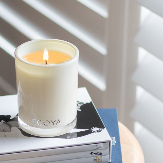 If you're burning more than one candle at a time, leave at least 100mm (10cm) between candles. <br><br> Burn you ECOYA candle for a minimum of an hour, this will prevent tunnelling (ECOYA candles are made from natural soy wax, which does retain a memory).  So ensure your wax pool reaches the edge of the glass on each burn.